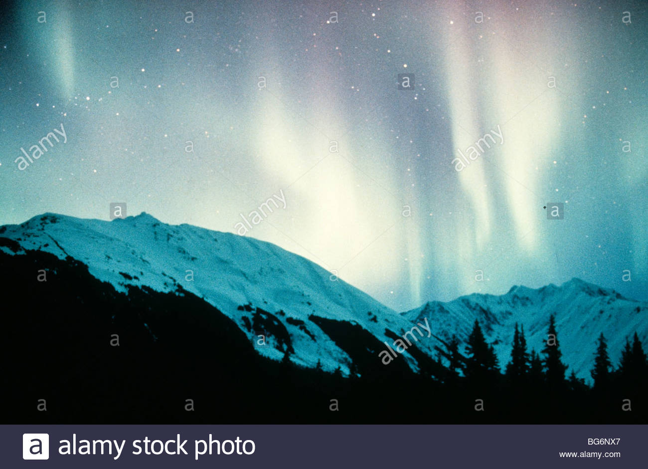 Alaska. Northern Lights (Aurora Borealis).