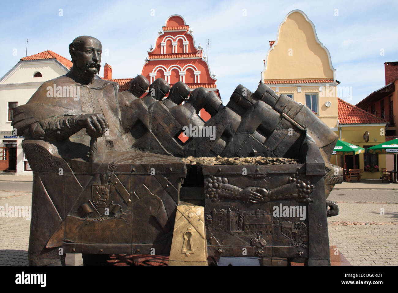 Duke Radziwill monument in Kiejdany, Lithuania - Stock Image