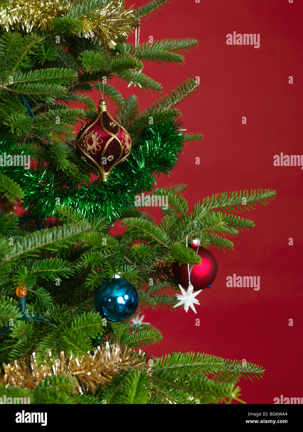 Christmas ornament on a Christmas tree - Stock Image
