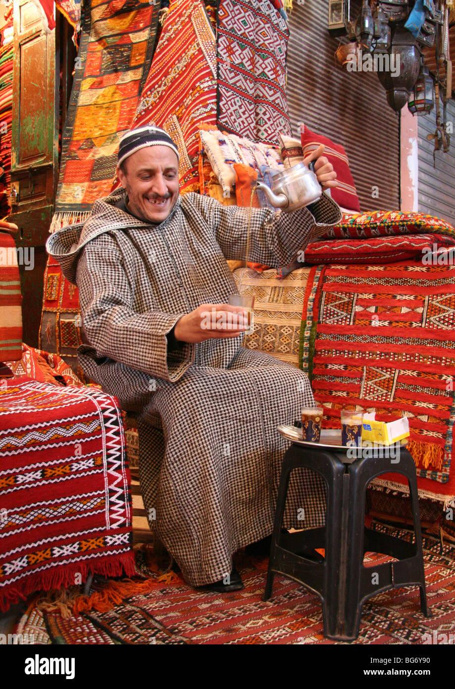 Bazar Ben Allal Stock Photo