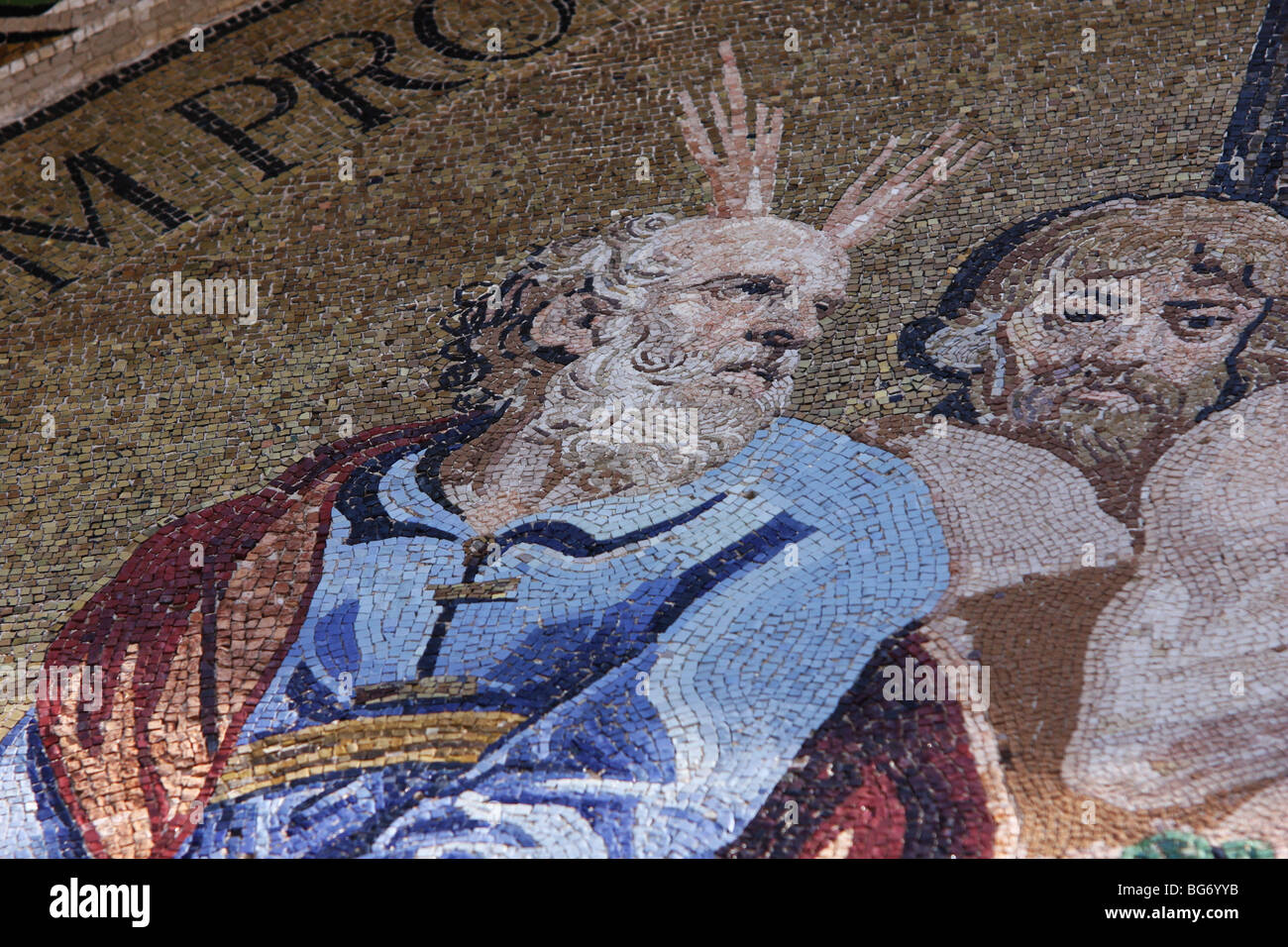 Detail of the mosaic in the Basilica of St. Mark Stock Photo
