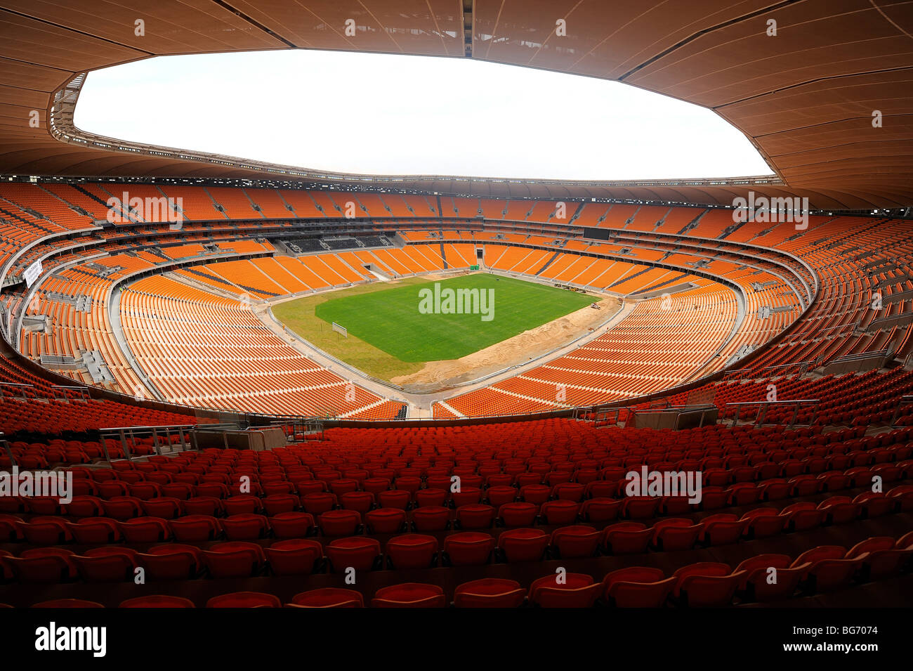 Soccer City Stadium in Johannesburg, South Africa. The host venue for the opening ceremony and FIFA World Cup 2010 - Stock Image