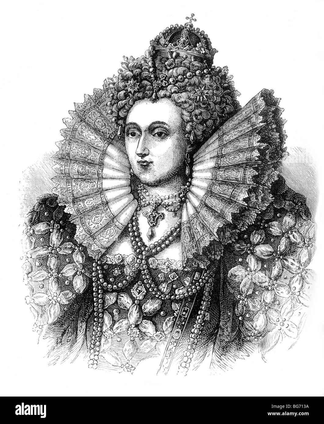 Portrait of Queen Elizabeth I Stock Photo