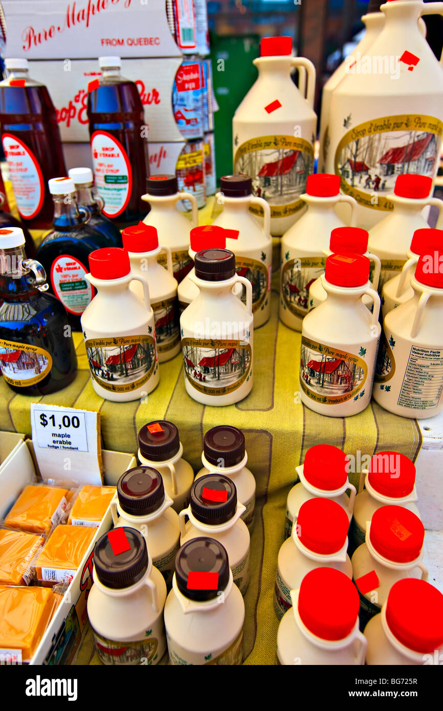 Maple Syrup products at the Byward Market, City of Ottawa, Ontario, Canada. - Stock Image