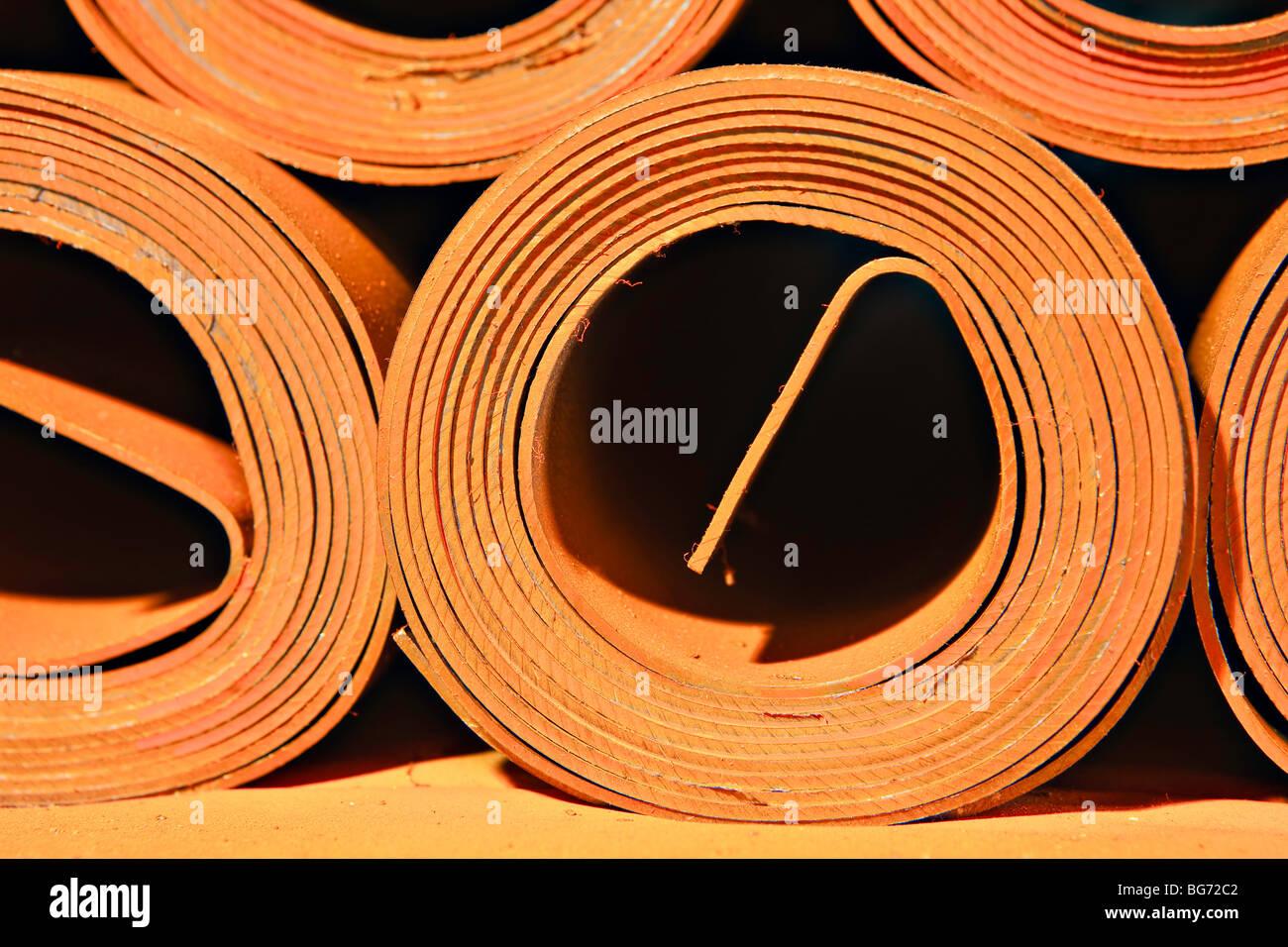 Rolls of lead, Mississauga, Ontario, Canada. - Stock Image