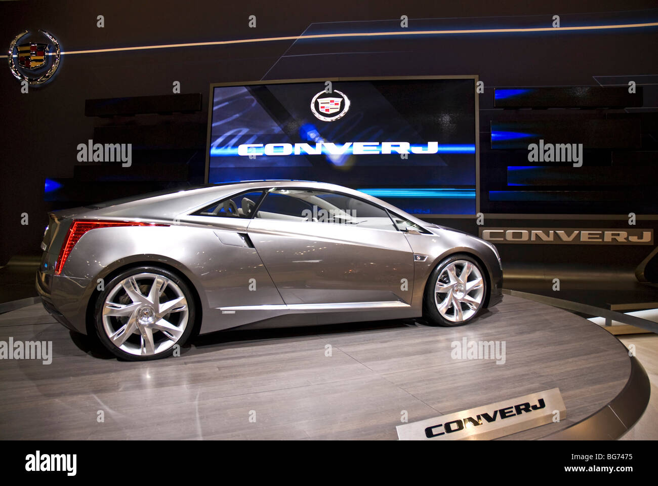 Gm design center stock photos gm design center stock images alamy the cadillac converj concept car at the 2009 la auto show in the los angeles convention publicscrutiny Image collections