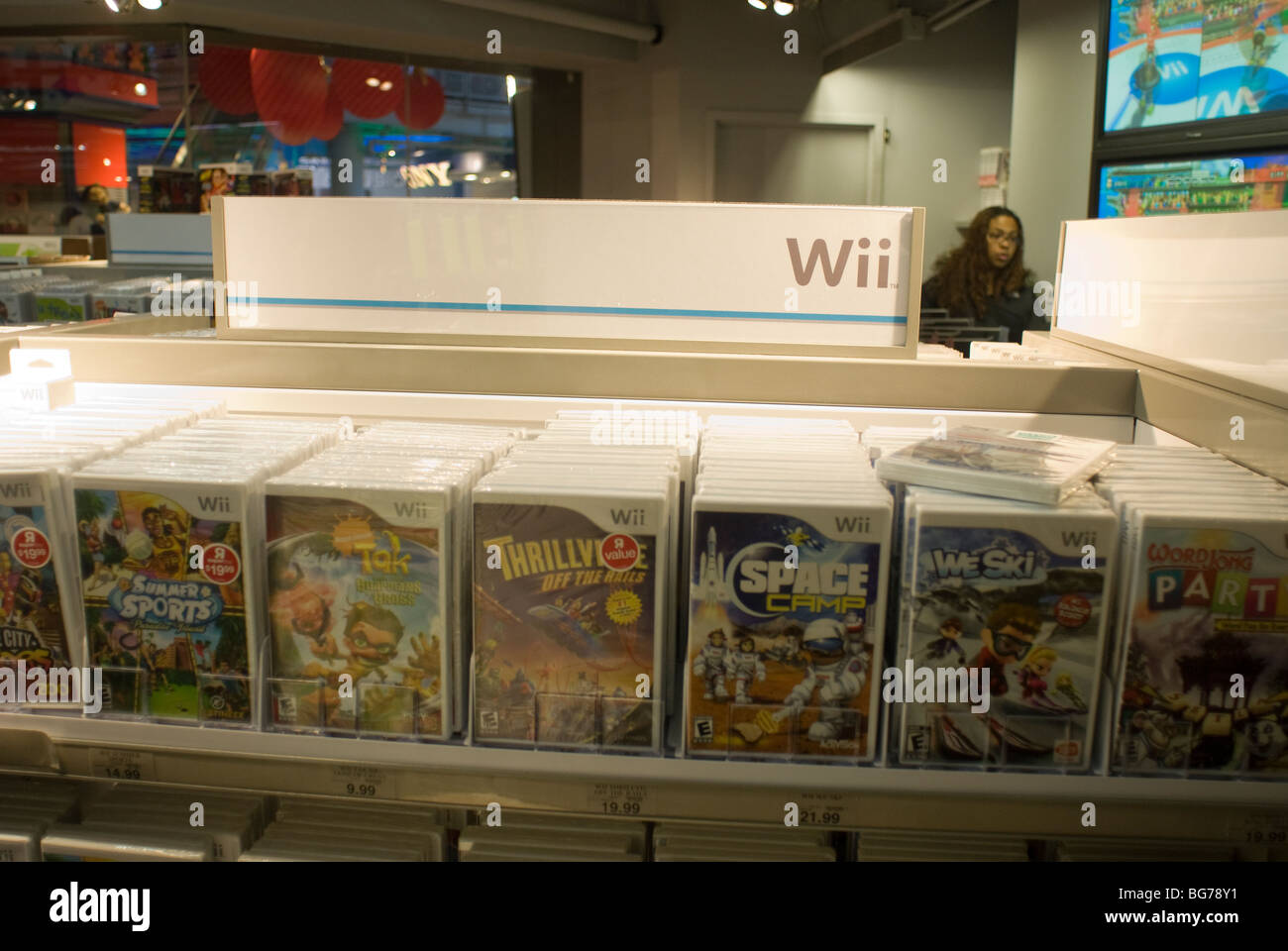 Nintendo Wii Video Games On Sale At Toys R Us In Times Square In New