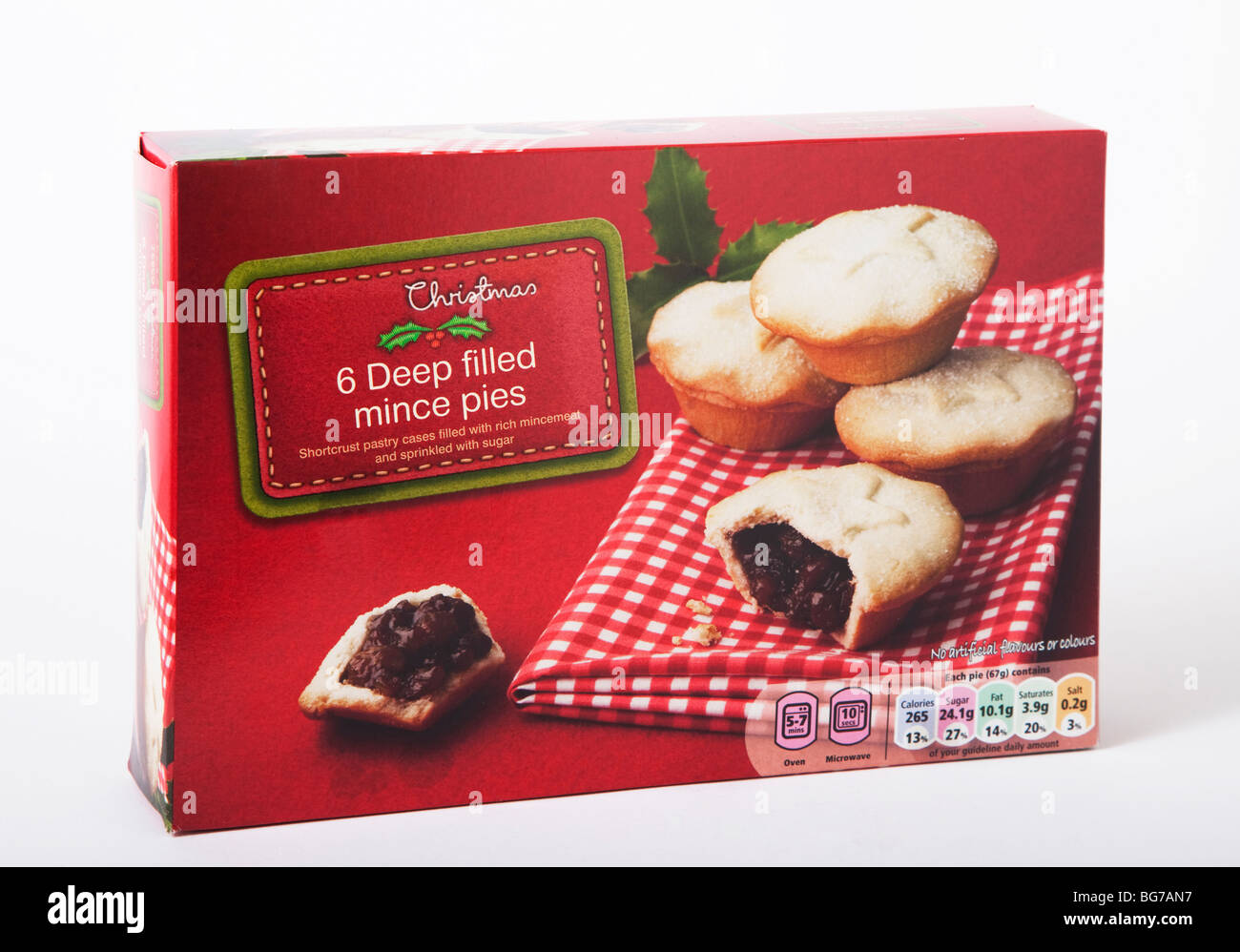 box mince pies - Stock Image