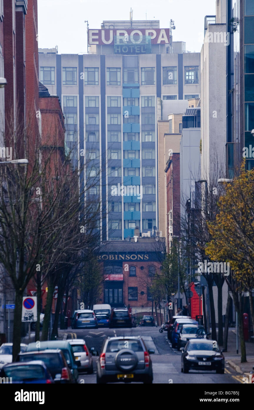 Europa Hotel, Belfast, viewed from a distance - Stock Image
