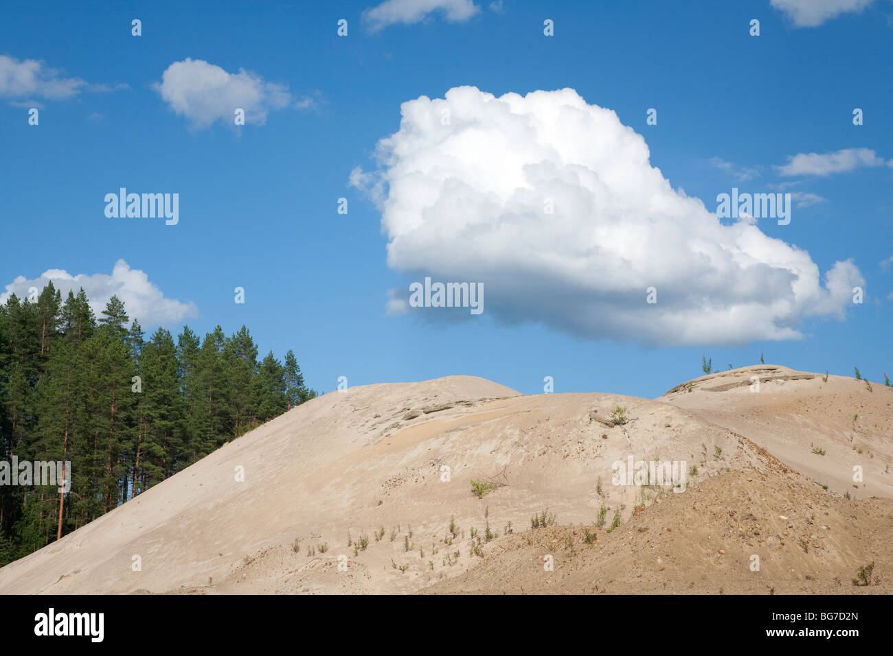 Pile of sand on a sandpit - Stock Image