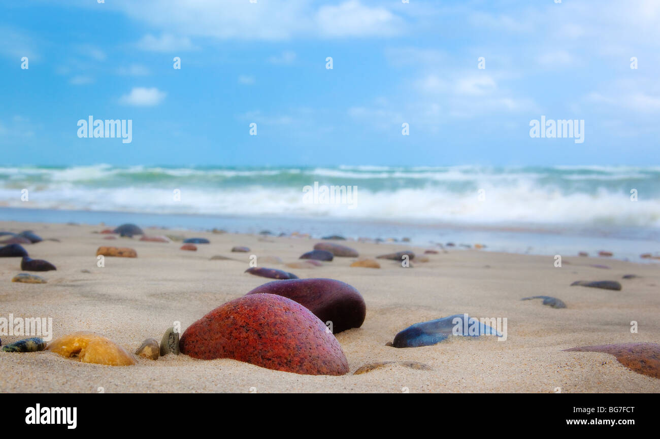 Old Skagen (Höjen) beach in Skagen, Denmark - Stock Image