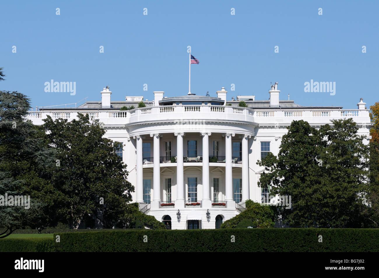 The White House south facade - Stock Image