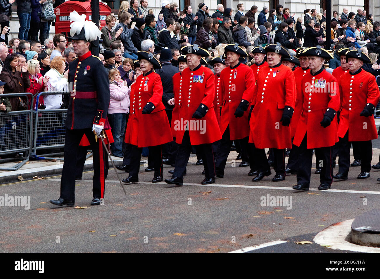 Remembrance Day Parade in London - Stock Image