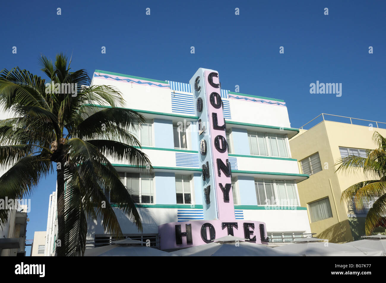 Colony Hotel in Miami South Beach, Florida USA - Stock Image