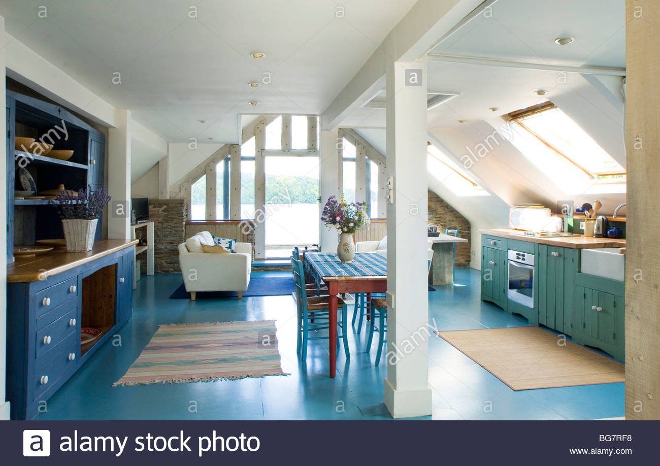 Country kitchen showcase interior - Stock Image