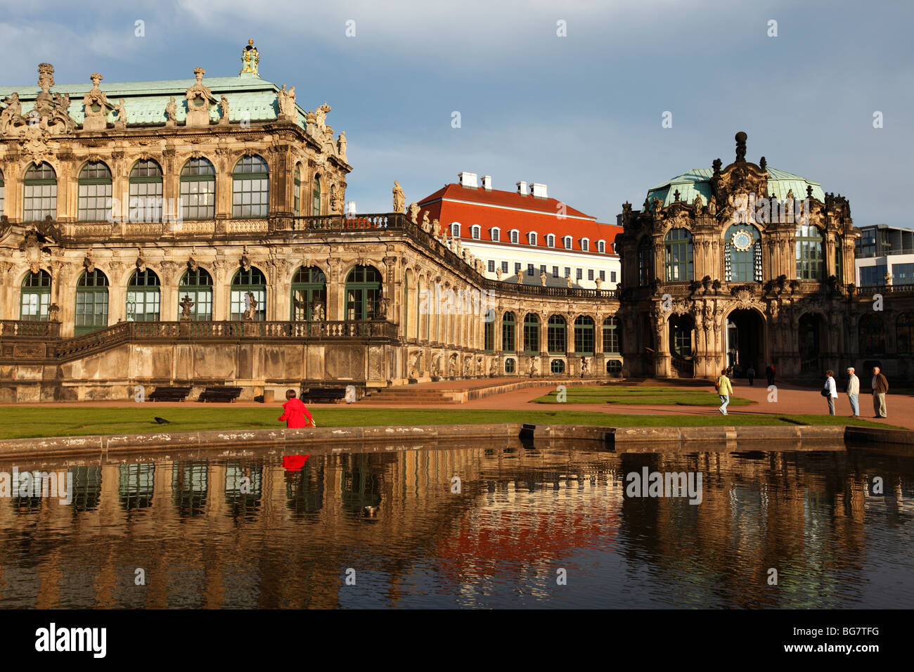 Germany Saxony Dresden Zwinger Palace Mathematisch-Physikalischer Salon Mathematical-Physical Sciences Salon Rampart - Stock Image