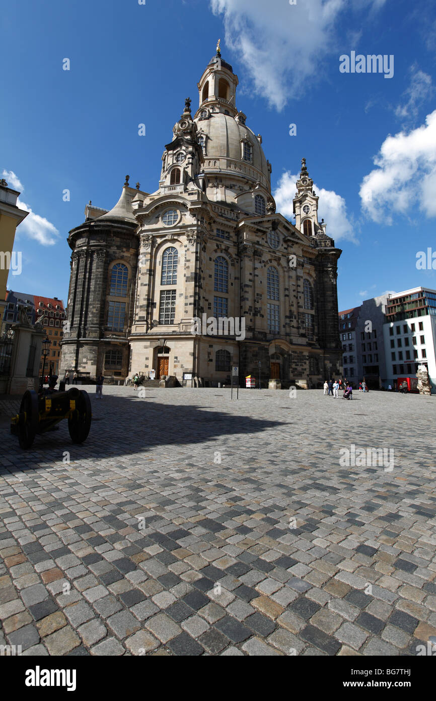 Germany, Saxony, Dresden, Old Town, Frauenkirche, Church of our Lady - Stock Image