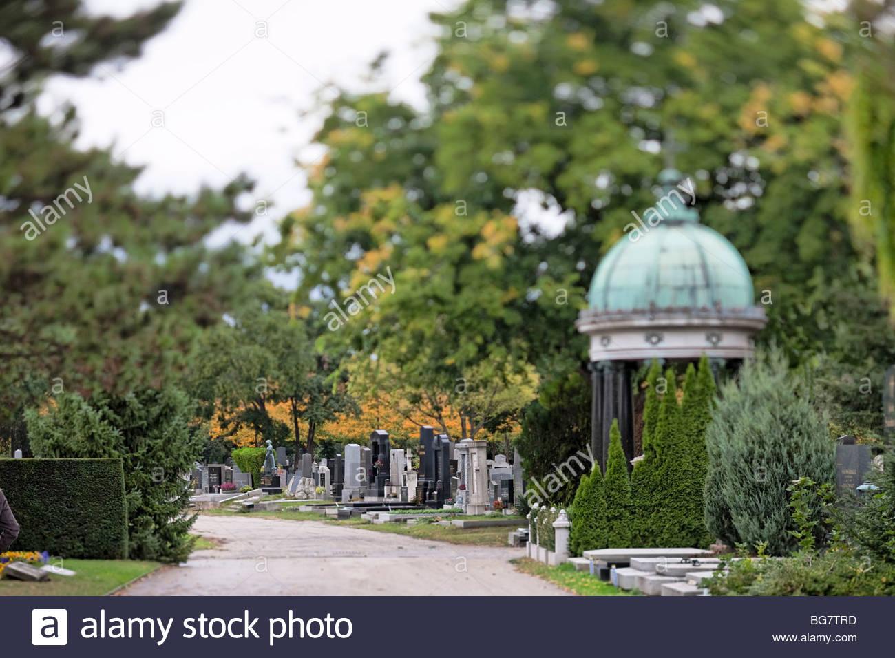 Wien, Vienna, Austria, central cemetery, Zentralfriedhof - Stock Image