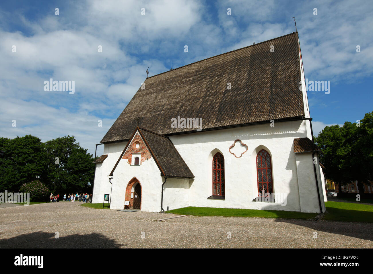Finland, Southern Finland, Eastern Uusimaa, Porvoo, Historic Porvoo Cathedral - Stock Image