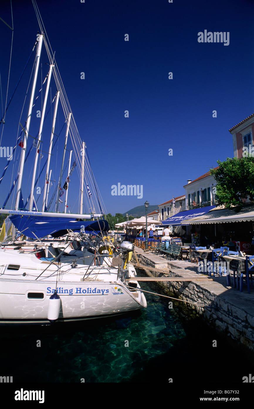 greece, ionian islands, kefalonia, fiskardo, sailing boats - Stock Image