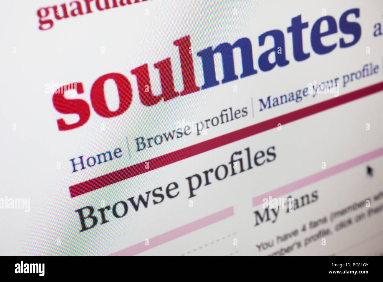 Online dating-Guardian soulmates