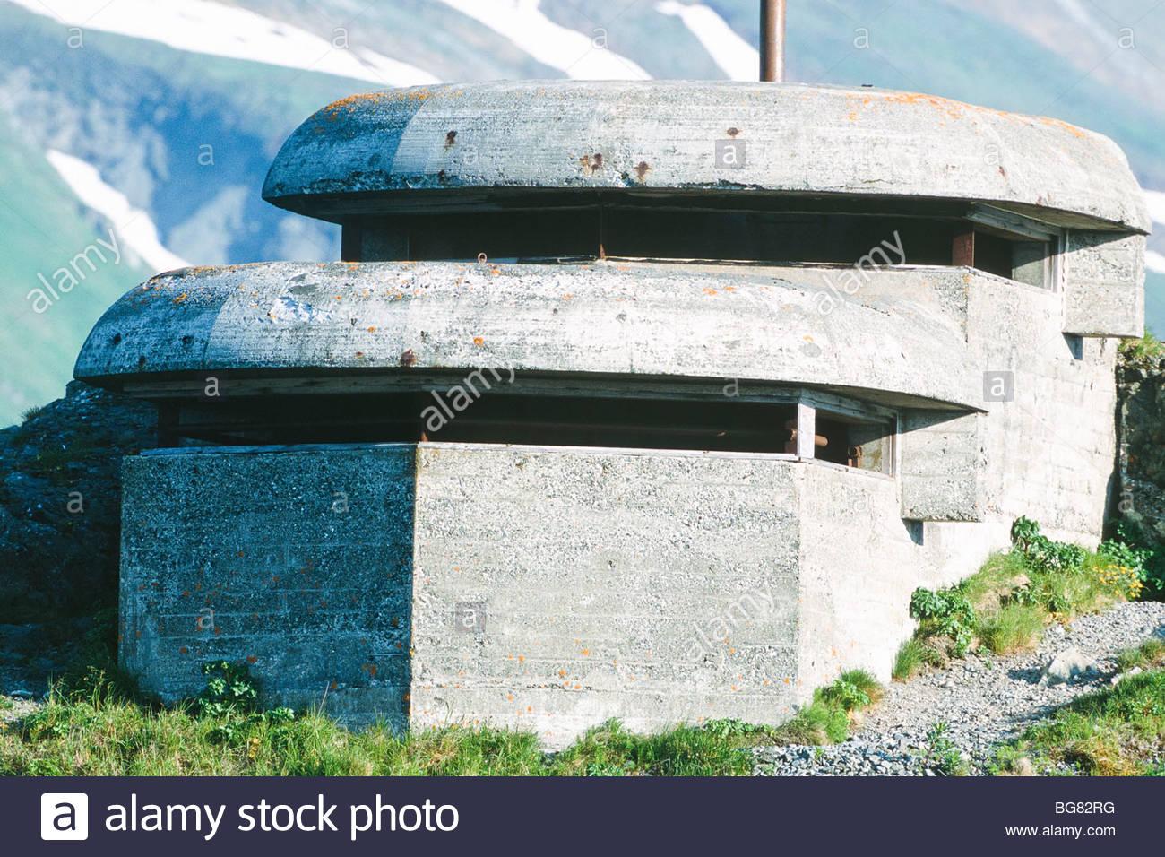 Alaska.Unalaska, World War two fortifications. - Stock Image