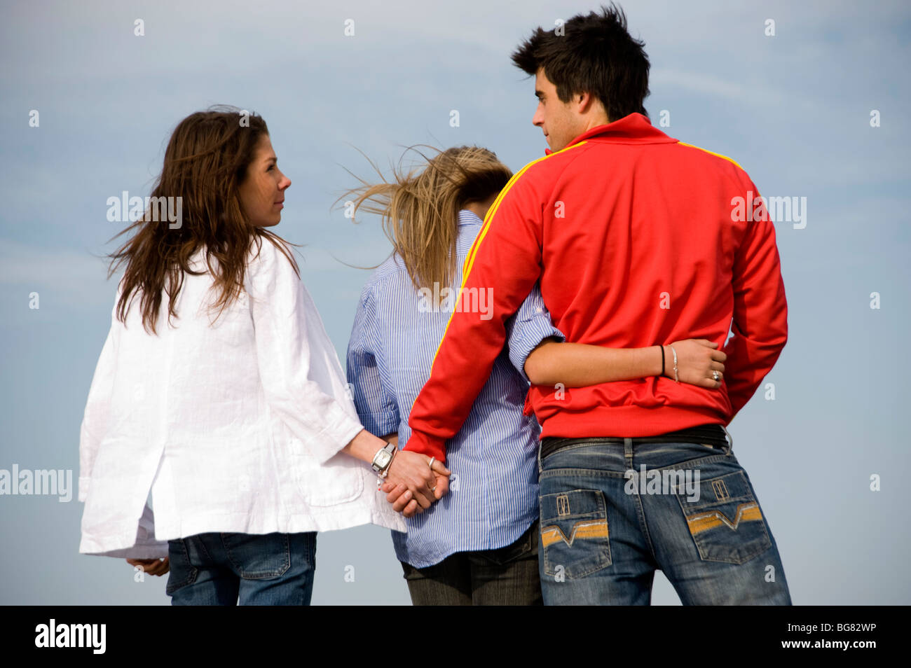 love triangle jealous girl stock photos & love triangle jealous girl