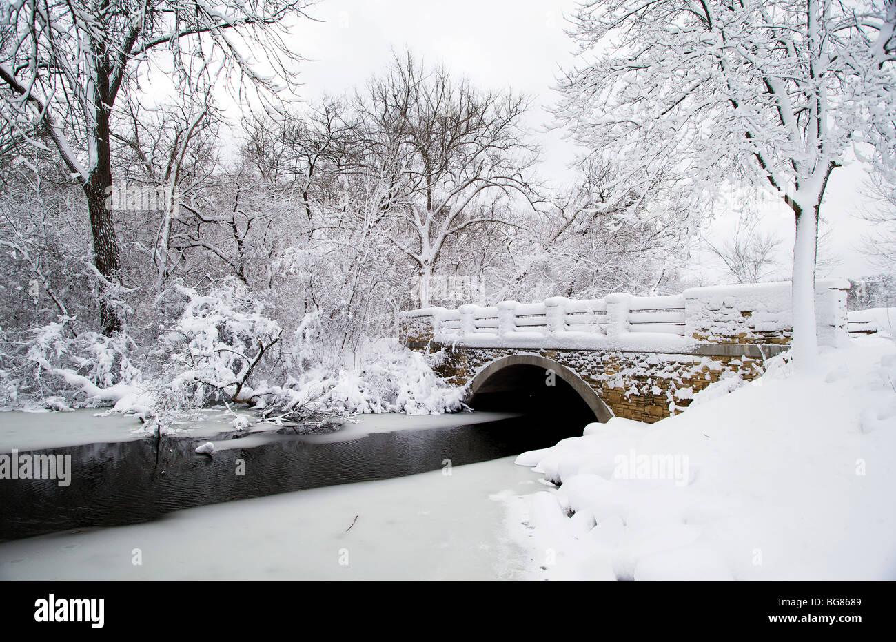 Walking By Wingra Creek In Snow >> Wisconsin Winter Trees Landscape Stock Photos Wisconsin Winter