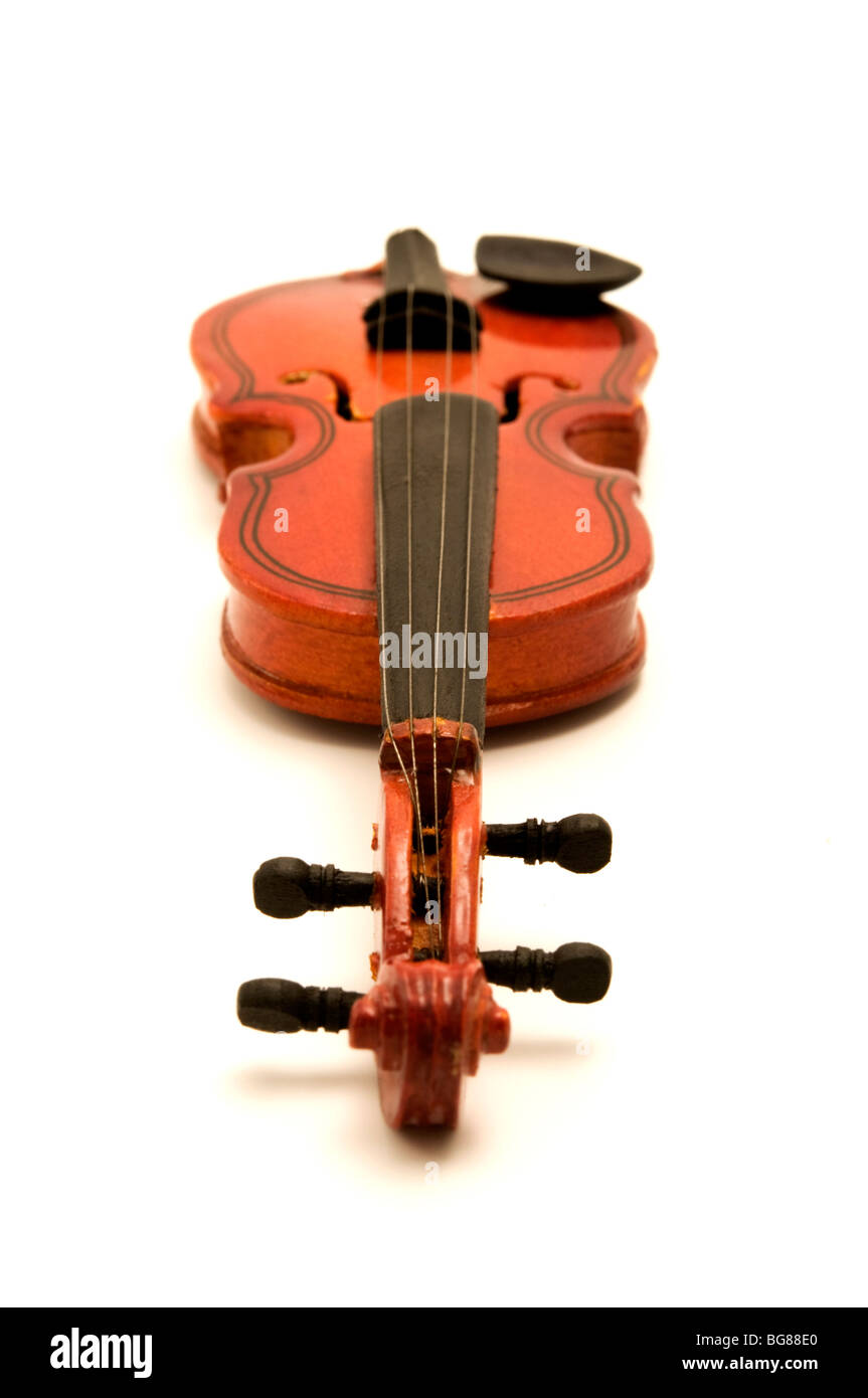 Violin on a white background - Stock Image