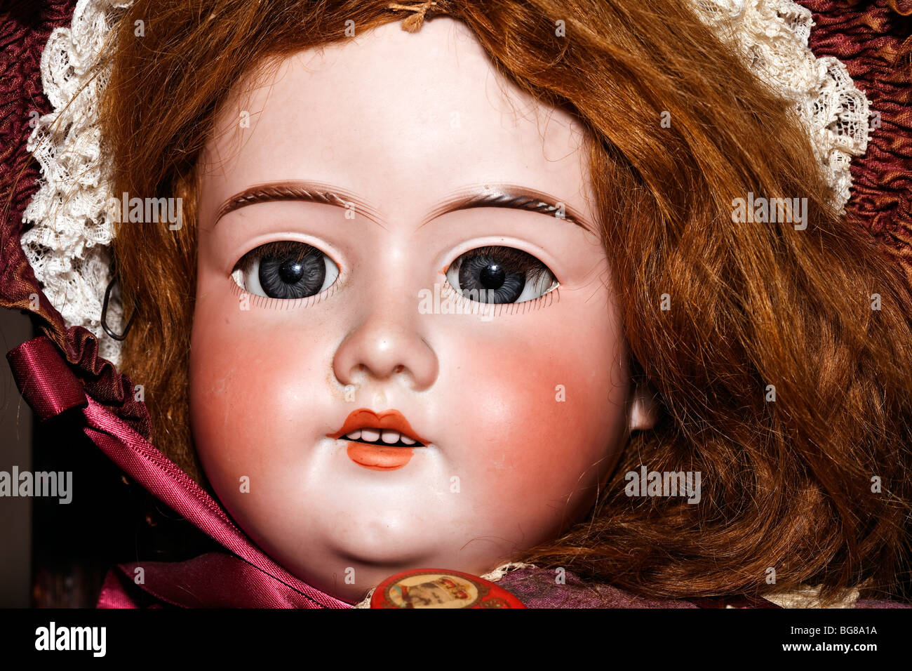 Arabella is a charming vintage bisque head doll from the Armand Marseille factory in Thuringia. - Stock Image