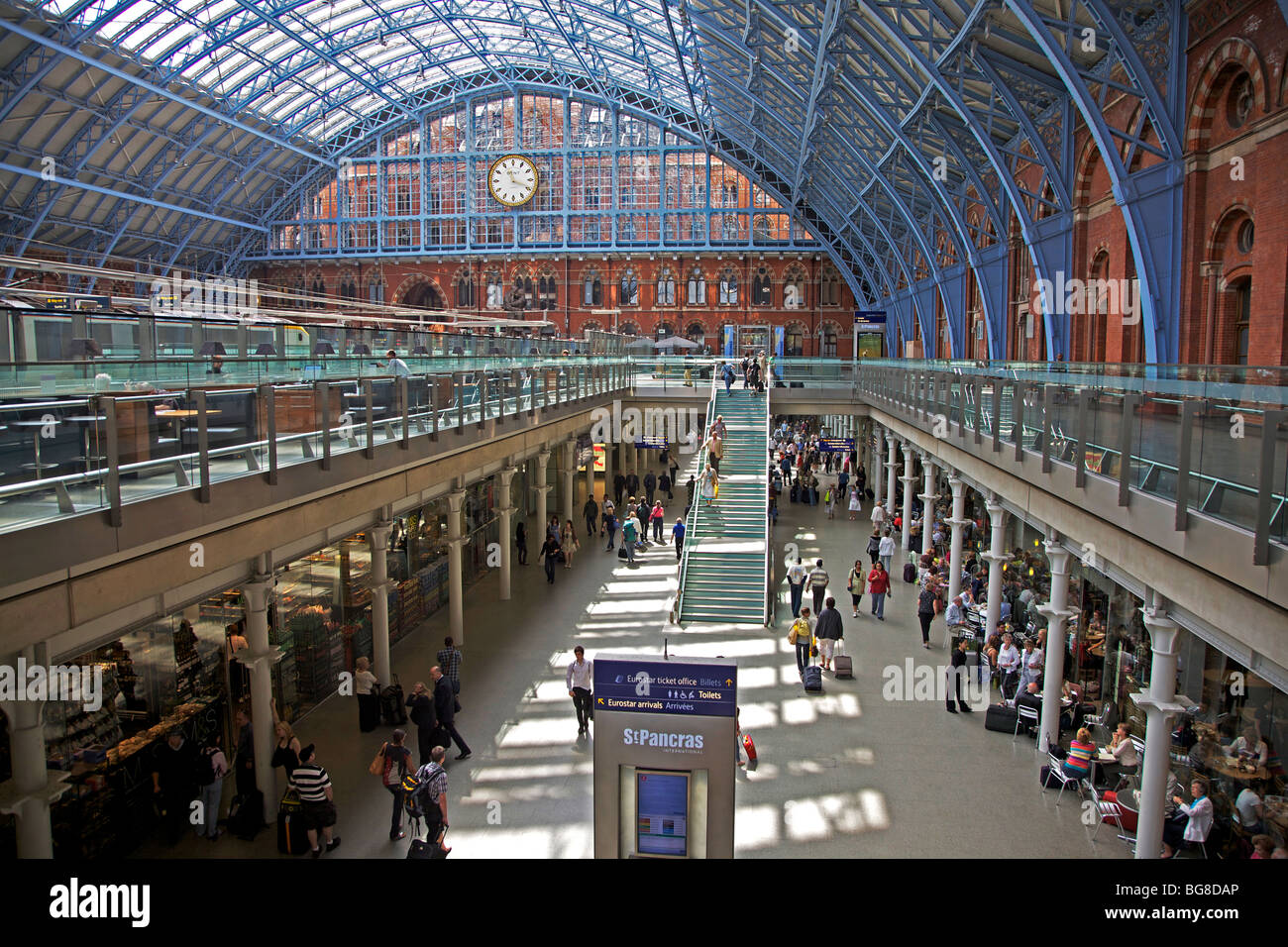 St. Pancras Station, London, England - Stock Image