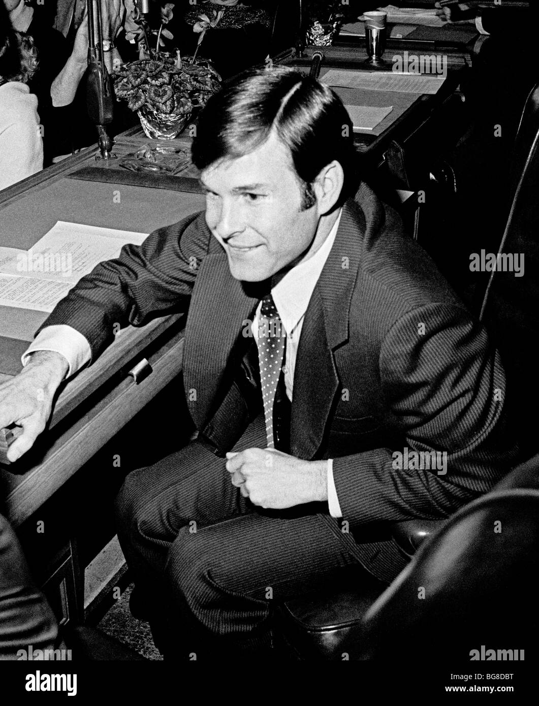 newly elected Supervisor, Dan White in San Francisco City Hall. 01/09/1978 - Stock Image