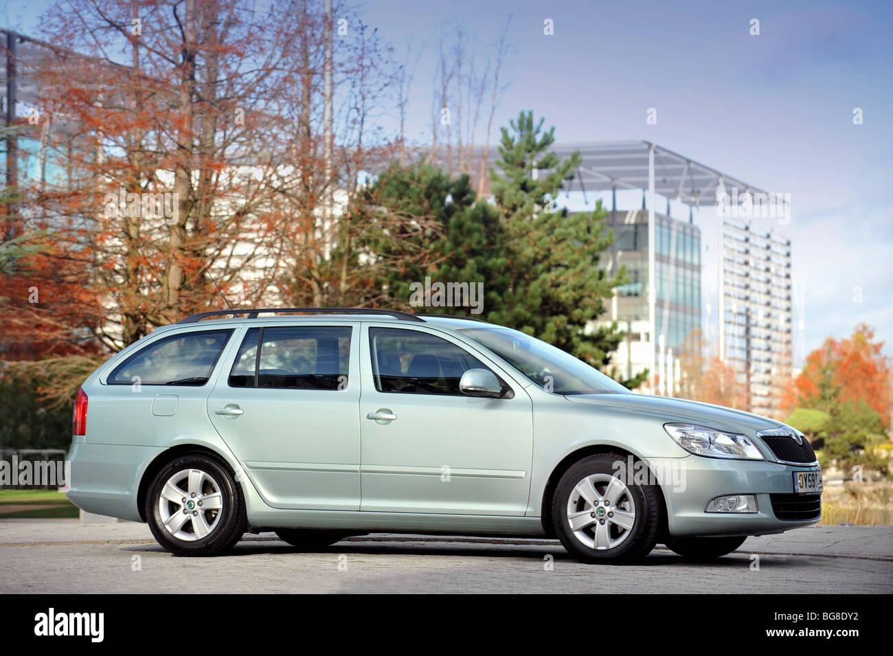 2009 Skoda Octavia greenline estate car - Stock Image