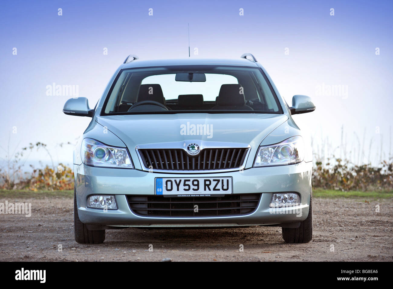 2009 Skoda Octavia diesel estate car front shot - Stock Image