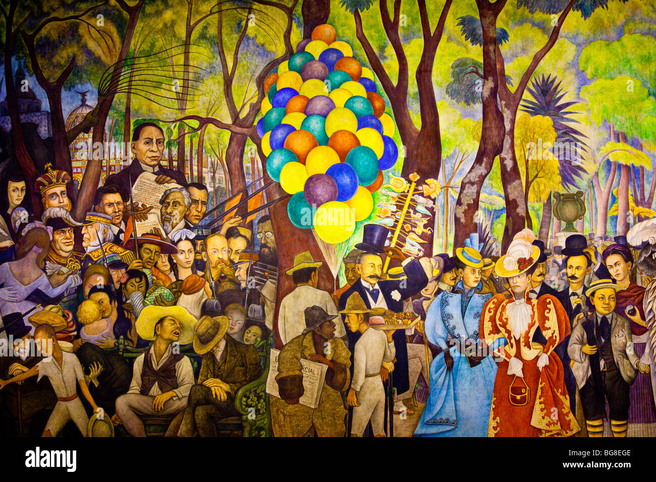 Dream Of A Sunday Afternoon In The Alameda Mural By Diego Rivera In