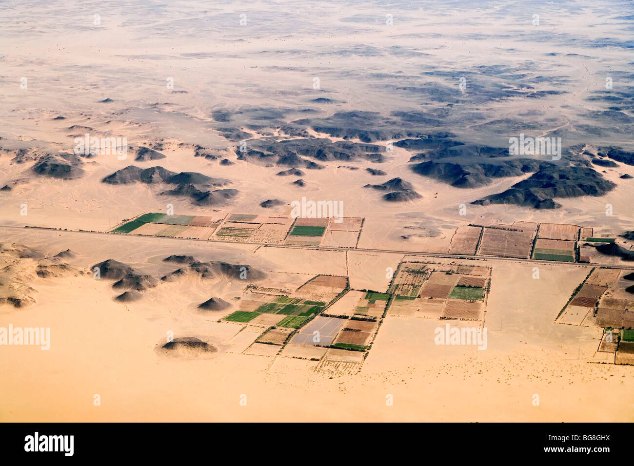 Lybia: aerial view - Stock Image
