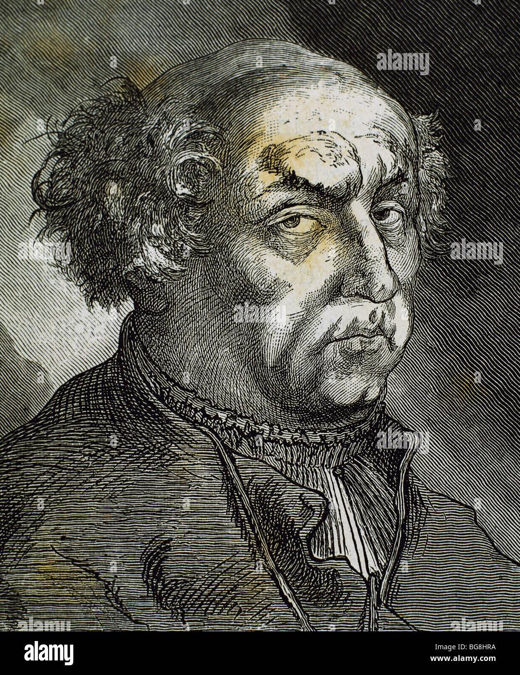 Paracelsus (1493-1541). Swiss physician, botanist, alchemist, astrologer, and general occultist. - Stock Image