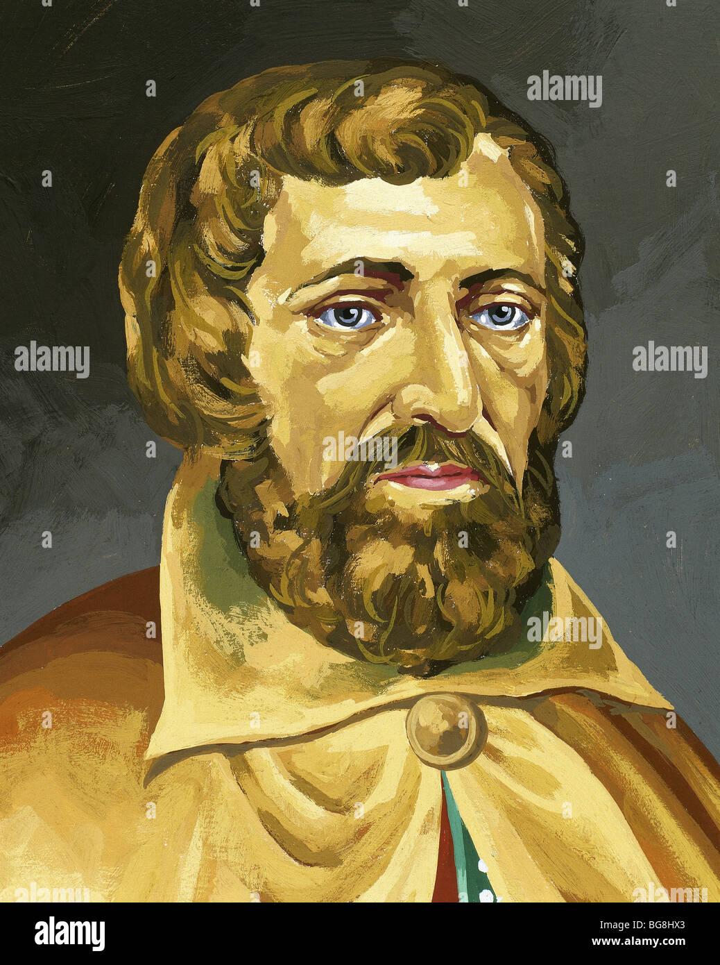 Arnaldus de Villa Nova (Valencia, h.1230-1311). Catalan physician, alchemist and astrologer. - Stock Image