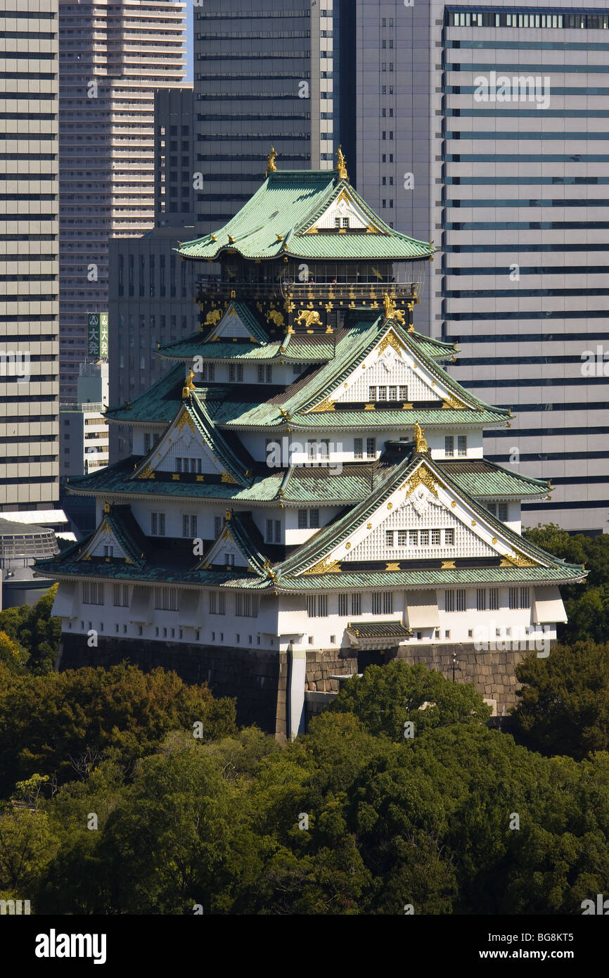 JAPAN. OSAKA. View of the Castle. - Stock Image