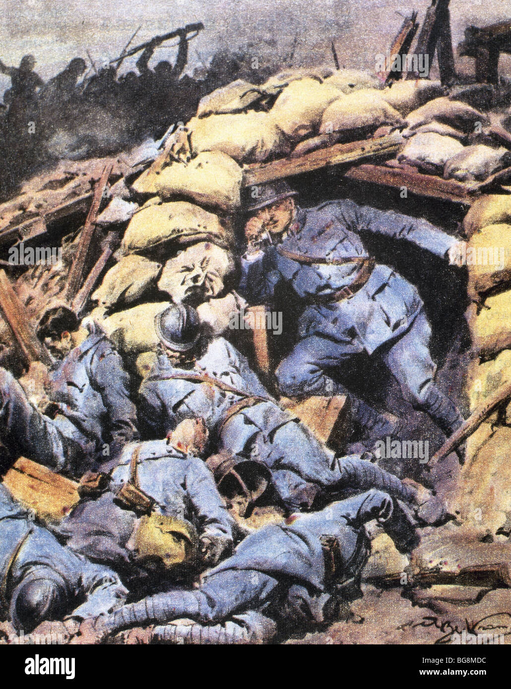 World War 1 Trench Stock Photos & World War 1 Trench Stock