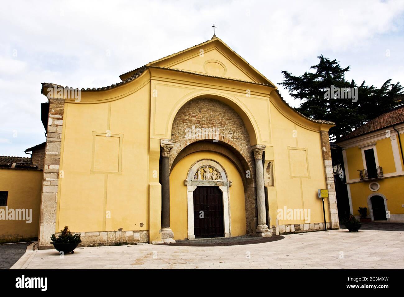 Church od Santa Sofia Benevento, Archeological Museum - Unesco official candidate Campania, Italy Stock Photo