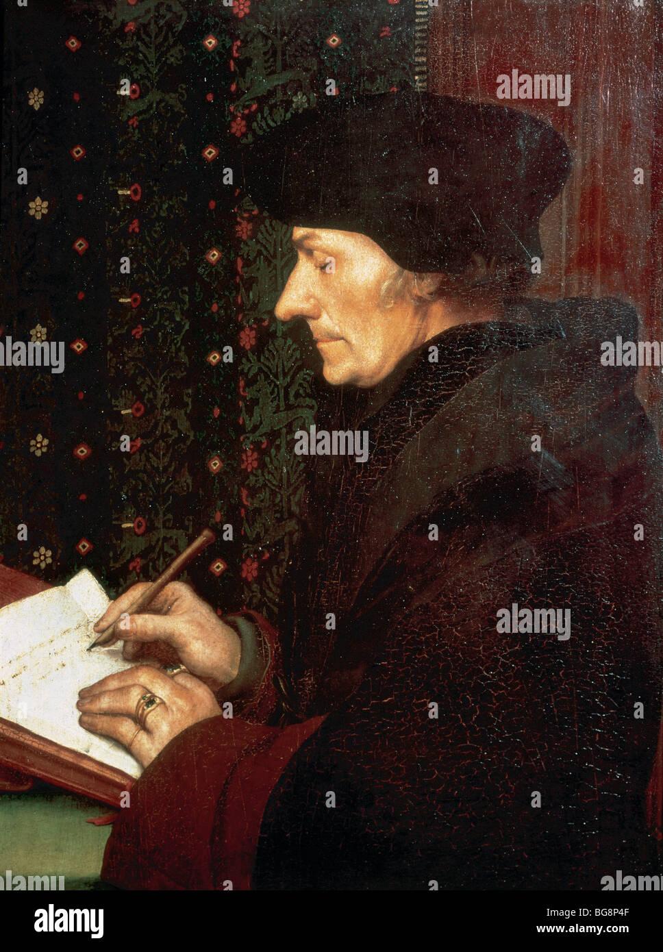 Desiderius Erasmus Roterodamus (known as Desiderius Erasmus of Rotterdam) (1466/1469-1536). Dutch Renaissance humanist. - Stock Image
