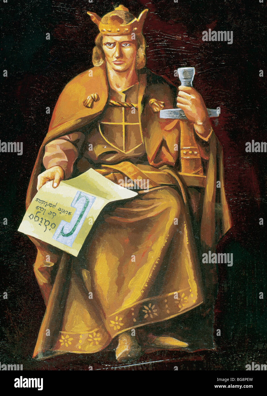 ALFONSO X of Castile 'the Wise (Toledo ,1221-Seville, 1284). King of Castile and Leon (1252-1284). - Stock Image