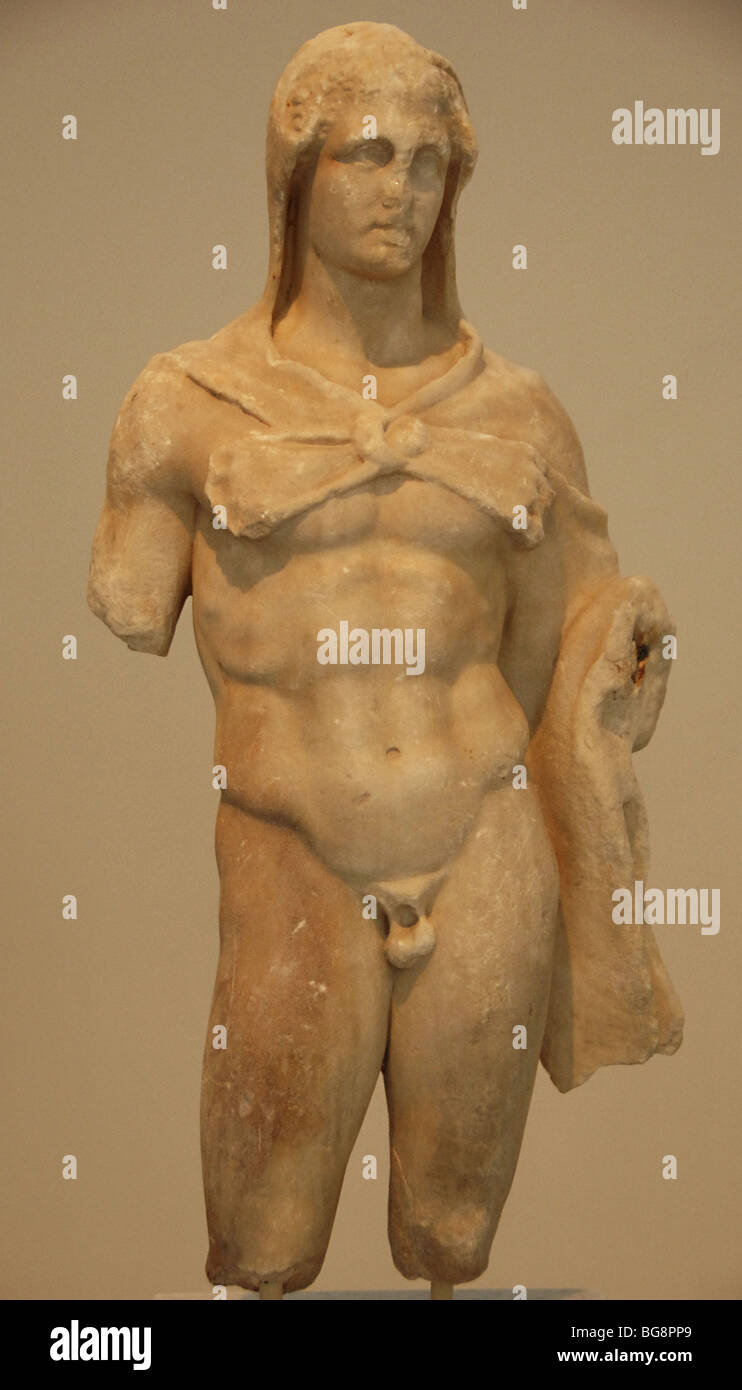 Heracles covered with a lion's skin. Greece. - Stock Image
