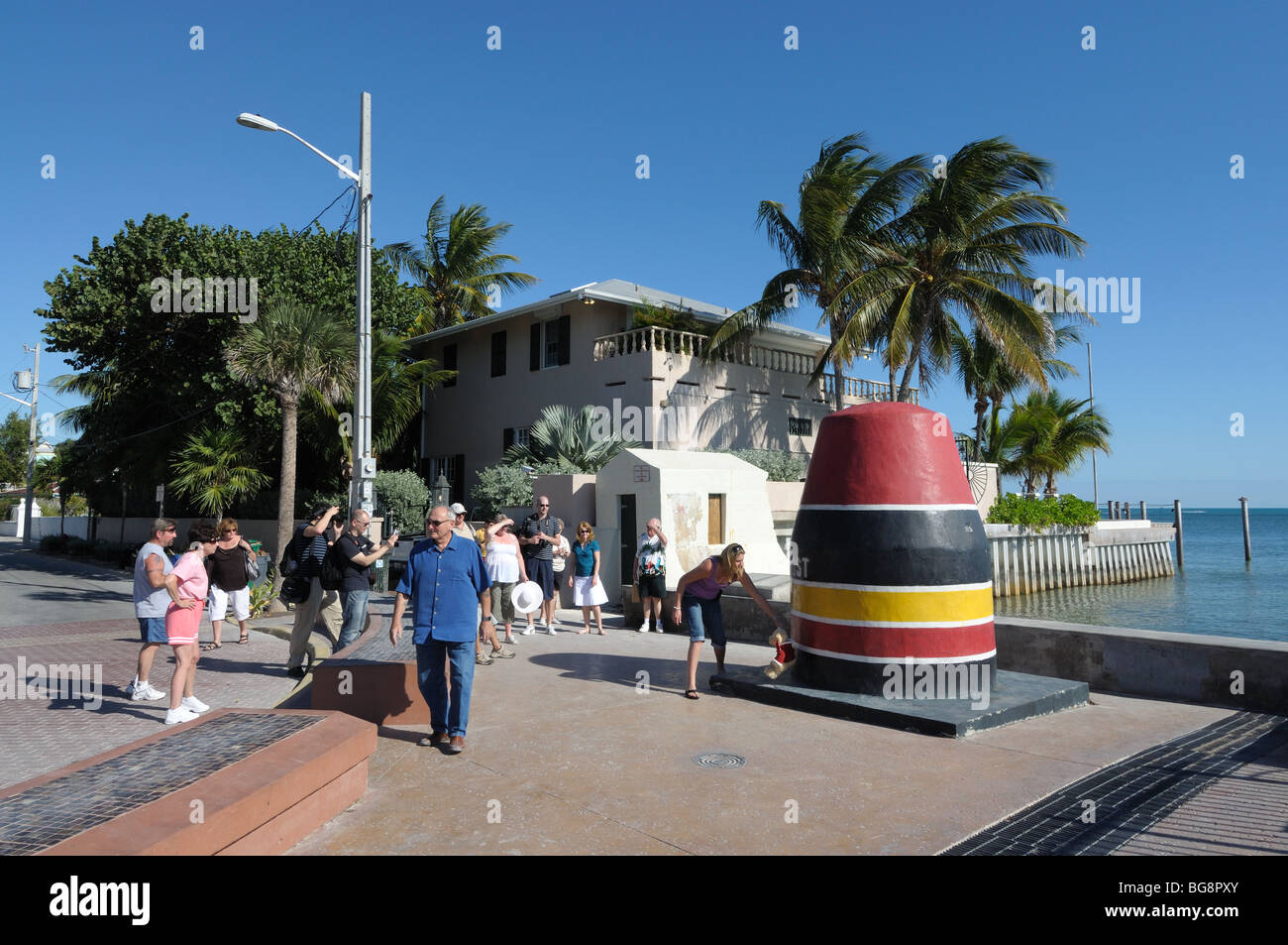 Southernmost point in continental USA, Key West, Florida Keys - Stock Image