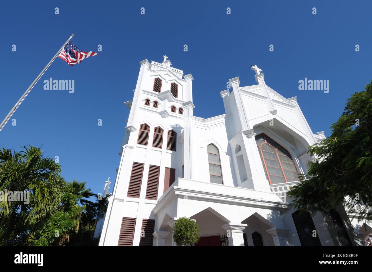St. Paul's Episcopal Church, Key West, Florida USA - Stock Image