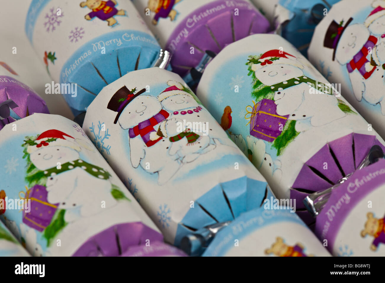 Snowman Crackers - Stock Image