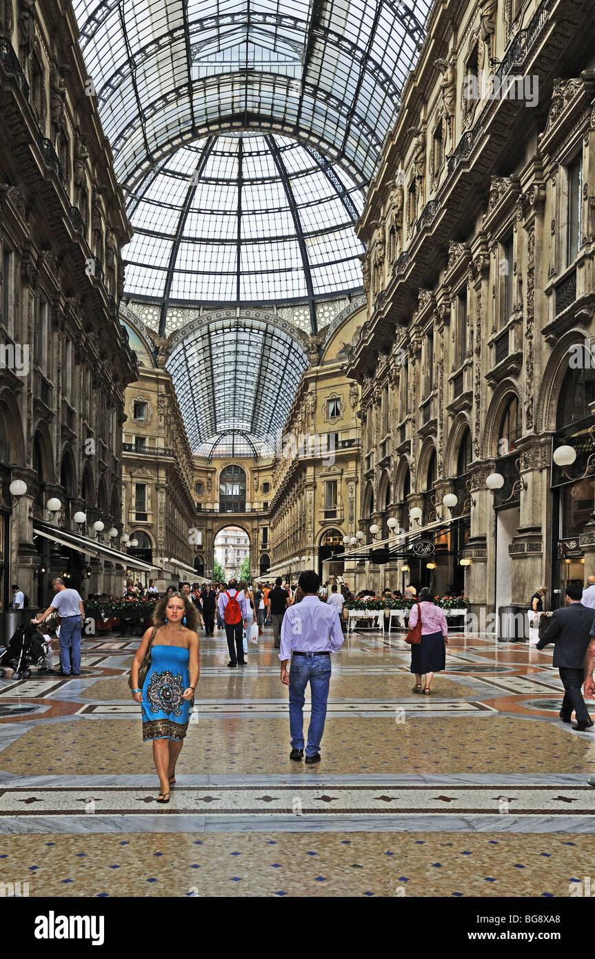 Vittorio Emanuele Gallery La Galleria Milan Milano Italy Italia A Stock Photo Alamy