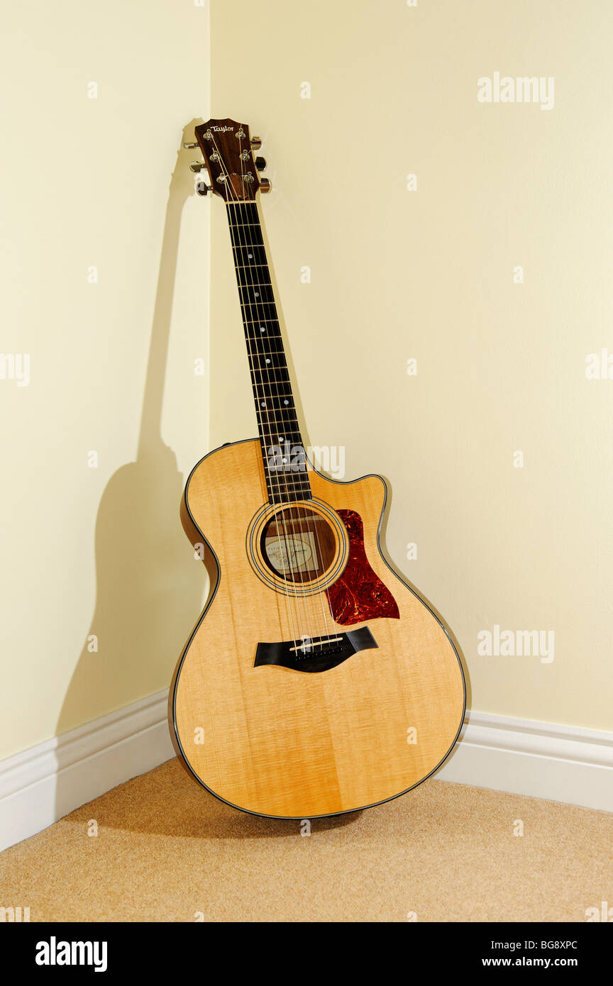 An electro acoustic guitar. - Stock Image