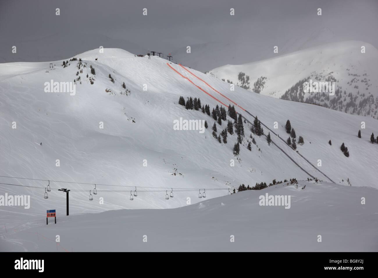 Arapahoe Basin ski area in Colorado USA - Stock Image